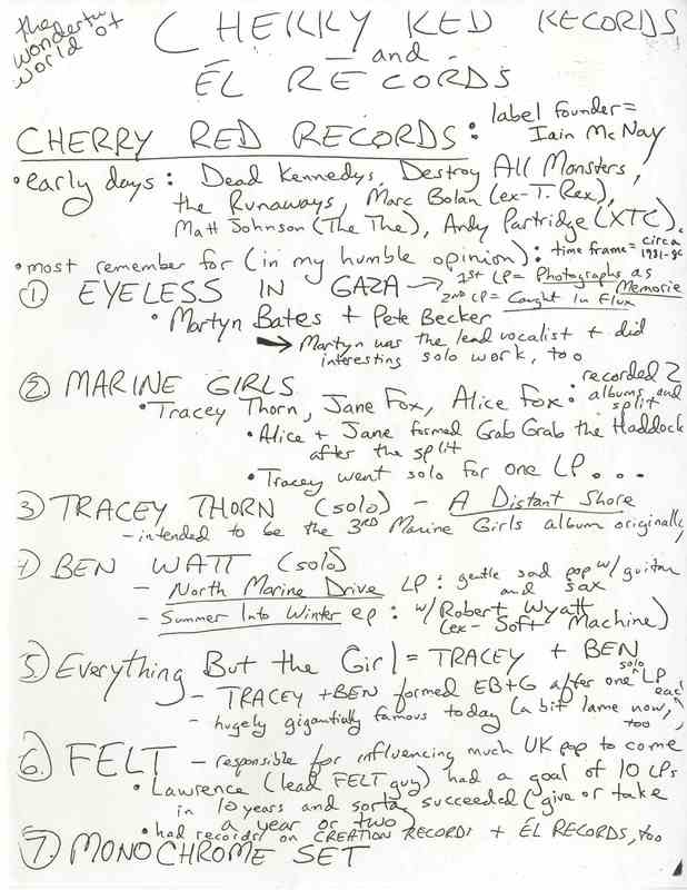 The Fantastic World of Cherry Red and Él Records